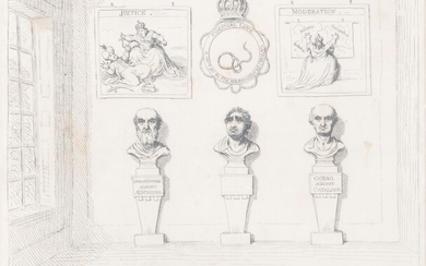 After James Gillray, six 18th and 19th century engraved prints (6)
