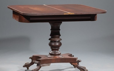 American Classical Carved Mahogany Games Table