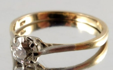 An 18 carat gold and diamond solitaire ring, approx.
