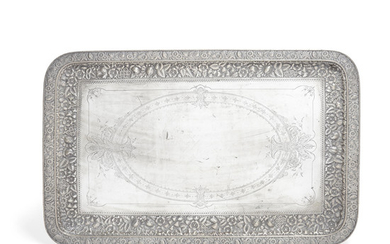 An American sterling silver tray