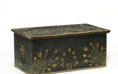 Antique Continental Paint Decorated Blanket Chest