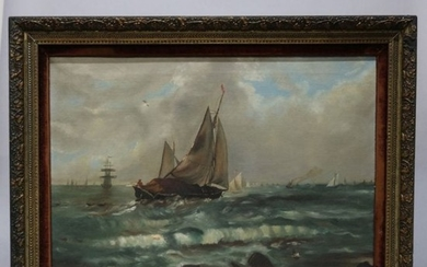 Antique Maritime Ship Painting, 19th C