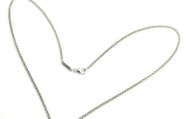 Authentic Chopard 18k White Gold Simple Chain Necklace