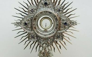 Beautiful All Sterling Silver French Church Monstrance