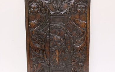 Beautifully detailed Italian wooden panel - Wood - 17th century