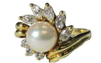 Black, Starr & Frost, Diamond and Pearl Ring