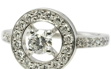 Boucheron Diamond Ring PRG29652 sz 50 18K White Gold