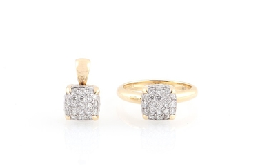 Brillant Garnitur zus. ca. 2 ct