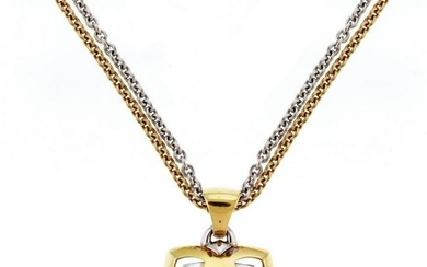 Bvlgari Pyramid Gold Amethyst Pendant with Two-Tone