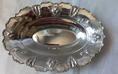 Centerpiece Tray - .800 silver - Italy - Late 20th century