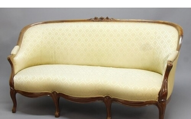 DANISH SALON SUITE, late 19th century, probably elm, the top...