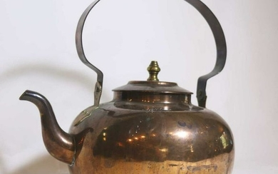 EARLY 20TH C ANTIQUE COPPER KETTLE