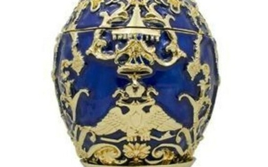 Faberge Inspired 1912 Tsarevich Russian Trinket, Jewel