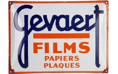 Gevaert Films Enamel Advertising Sign