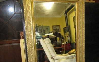 Gilt Decorated Rectangular Form Mirror 5ft High Approximatel...