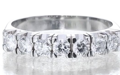 Half Eternity Band - 18 kt. White gold - Ring - 0.70 ct Diamond - Diamonds