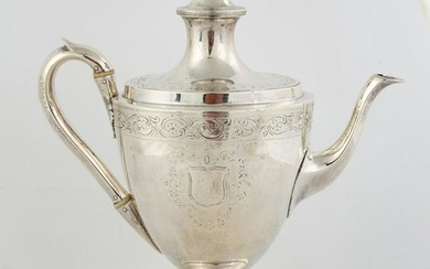 Hand Chased English Silver Coffee Pot