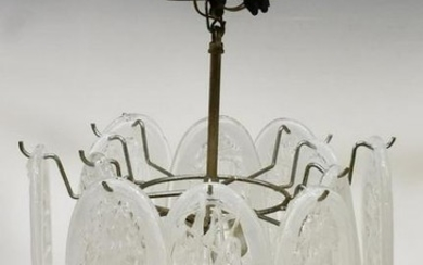 ITALIAN MID-CENTURY MODERN THREE-LIGHT CHANDELIER