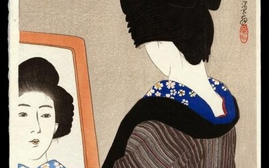 Ito Shinsui Woodblock - Black Neck Band