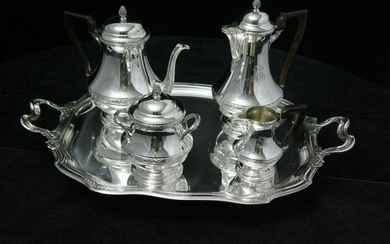 LAPAR / HENIN - 5pc LOUIS XVI STERLING SILVER TEA SET