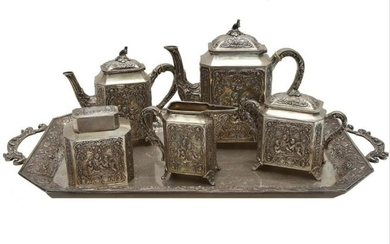 Large German Silver Coffee/Tea Set