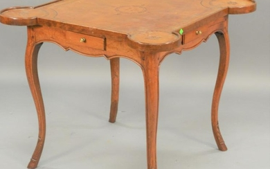Louis XV style games table, having leather top over