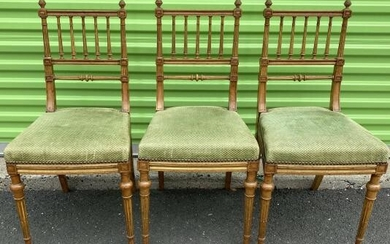 Louis XVI Gilt Upholstered Dinning Chairs