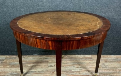 Mahogany game table or hot water table - Louis XVI Style - Mahogany - Second half 19th century