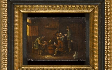 Manner of David Teniers the Younger- Tavern scene; oil on...