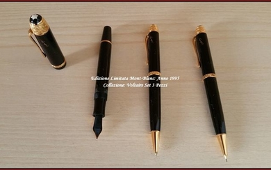 ■Mont-Blanc - NUOVA - Voltaire Collection LIMITED EDITION YEAR 1995 - Set 3 Pens: Fountain Pen - Sphere - Mechanical Pencil ■