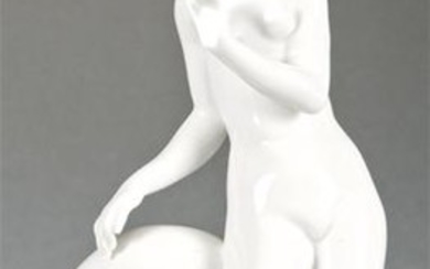 Naked young porcelain figurine,