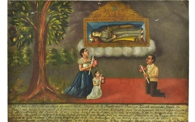 PUBLISHED MEXICAN RELIGIOUS EX-VOTO MARY MAGDALENA