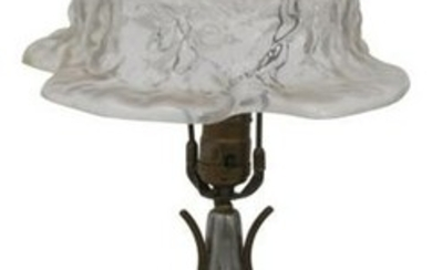 Pairpoint Puffy Rose Bonnet Boudoir Lamp
