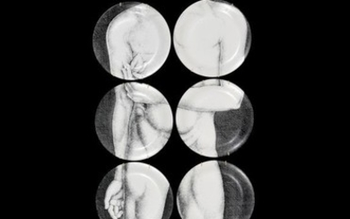 "Piero Fornasetti ""Adam"" Plates, Set of 12"