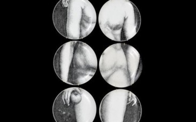 "Piero Fornasetti ""Eve"" Plates, Set of 12"