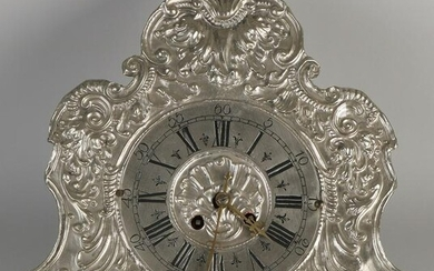 Plated Baroque-style wall clock with wedding pendulum