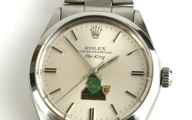 ROLEX, AIR KING, A VINTAGE STAINLESS STEEL GENT'S WRISTWATCH...