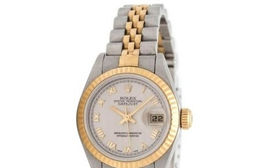 ROLEX, STAINLESS STEEL AND 18K YELLOW GOLD REF. 79173