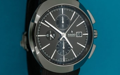 """Rado - Automatic Chronograph 7750 D-Star Plasma LIMITED EDITION Black with Leather Strap - R15556155 """"NO RESERVE PRICE"""" - Men - BRAND NEW"""