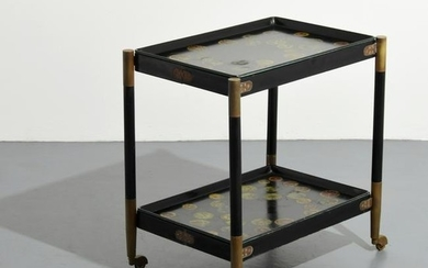 Rare Piero Fornasetti Folding Cart, Removable Trays