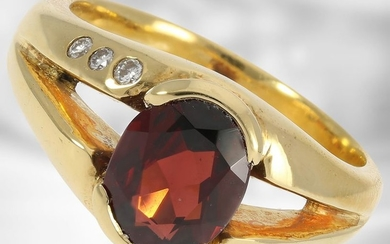 Ring: solid and decorative 18K Rodolphine/Brillant ring