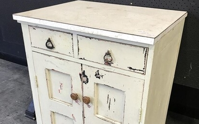 Rustic Shabby Chic Two Drawer and Door Cabinet (H:85 W:64 D:51cm)
