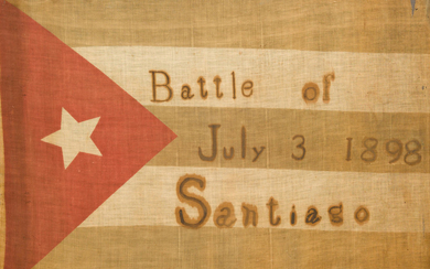 SPANISH-AMERICAN WAR: BATTLE OF SANTIAGO FLAG.