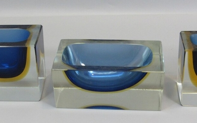 Set of 3 Murano Glass Items, Apparently for a Writing Table