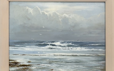 THE INCOMING TIDE, AN OIL BY HENRY HADFIELD