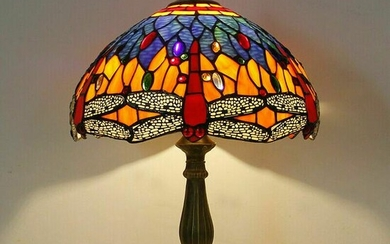 Table Reading Lamp Tiffany Style Stained Glass