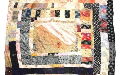 Three hand stitched patchwork quilts