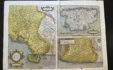 Tuscan regional. Ancona and Corsica. By Ortelius