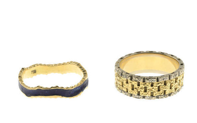 Two band rings.