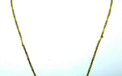 VICTORIAN 18k Yellow Gold Watch Chain Necklace Circa